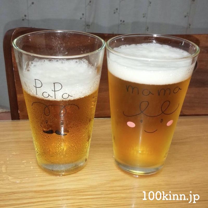 100均の夫婦グラスはシンプルなのにおすすめですよ